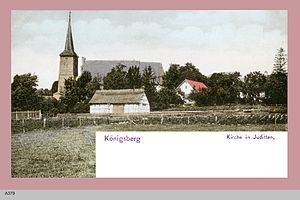 Mendeleyevo Microdistrict - Postcard of Juditten Church, ca. 1908