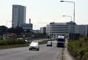 R108 road (Ireland) - R108 in Ballymun, northbound carriageway