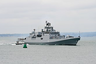 Defense industry of Russia - Krivak-class frigate INS Trikand a class of frigates designed and built by United Shipbuilding Corporation