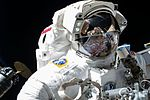 ISS-51 EVA-1 (d) Peggy Whitson with the Cygnus resupply ship.jpg