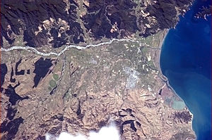 Blenheim, New Zealand - Blenheim pictured from the International Space Station (ISS)