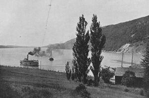 Bras d'Or Lake - Passenger steamer on Bras d'Or Lake near New Campbellton, ca 1903.