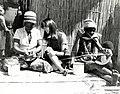 IVS Volunteer Beth Terry with Botswanan Basket Weavers, circa 1980 (13875622543).jpg