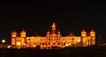 Illuminated Mysore palace at night.JPG