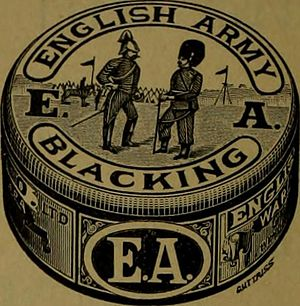 Shoe polish - English Army Blacking from 1895