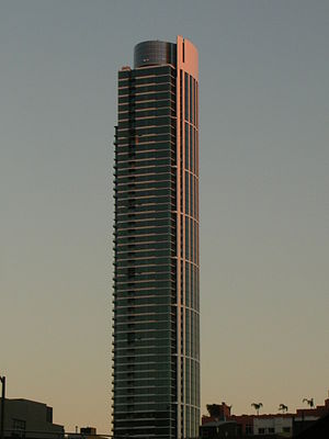 One Rincon Hill - One Rincon Hill South Tower at sunset