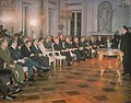 Inauguracyjne posiedzenie Obywatelskiego Komitetu Odbudowy Zamku Królewskiego w Warszawie 26 stycznia 1971.jpg