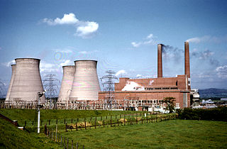 Ince Power Station two demolished power stations in England