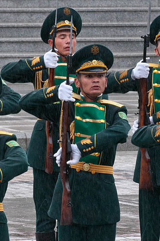 Armed Forces of Turkmenistan - Military guard of honor during the 20th year of independence in Turkmenistan