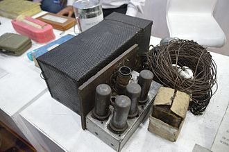 Indian National Army - Radio transmitting set seized from INA agents in Calcutta, 1944. Four agents had been landed by submarine on the Indian coast, tasked with setting up a wireless post.