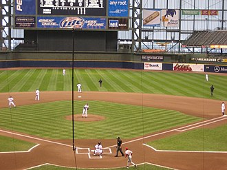 2007 Cleveland Indians season - The Indians and Angels at Miller Park in Milwaukee