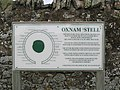 """Information board at the """"Oxnam Stell"""" - geograph.org.uk - 620529.jpg"""