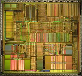 P5 (microarchitecture) - Intel Pentium P54C die shot