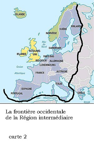 Western Europe - Geopolitical boundary of Western culture according to historian Dimitri Kitsikis