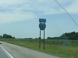 Interstate 70 in Indiana - I-70 shield in the state of Indiana