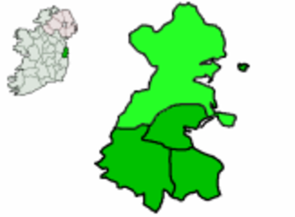 Fingallian - Ireland (left) and County Dublin (right), with Fingal in light green