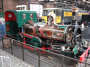 Isle of Man Railway locomotives - No. 3 Pender sectioned for display at MOSI in Manchester