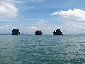 Islets in Phang Nga Bay, Thailand