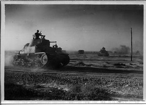 Italian armoured division Ariete on the attack.jpg