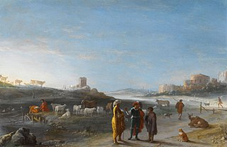 An Italianate landscape with an unidentified subject from the Old Testament