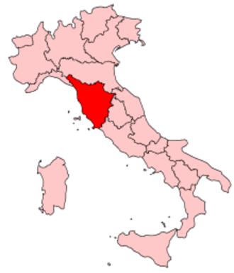 Music of Tuscany - Image: Italy Regions Tuscany Map