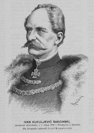 Ivan Kukuljević Sakcinski - Ivan Kukuljević Sakcinski (1889)