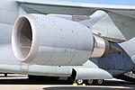 JASDF C-2(78-1205) CF6-80C2K1F turbofan engine(left wing) left front view at Komaki Air Base March 3, 2018 02.jpg