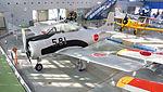 JASDF T-28B(63-0581) at Hamamatsu Air Base Publication Center 20141124-01.JPG