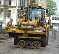 JCB 3CX backhoe loader, Myslíkova Street, Prague 4.jpg