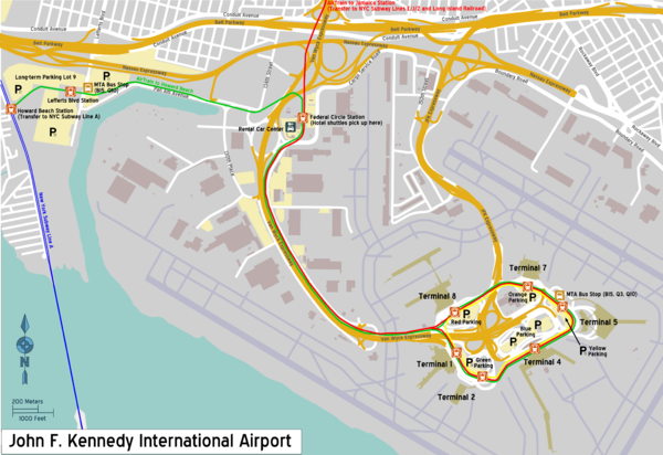 Map Of New York Showing Jfk Airport.John F Kennedy International Airport Travel Guide At Wikivoyage