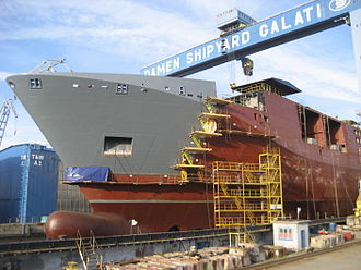 HNLMS Karel Doorman (A833) - Construction of bow