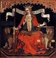 Jacobello Del Fiore - Justice between the Archangels Michael and Gabriel (detail) - WGA11889.jpg