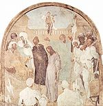 Christ before Pilate, 1523-25; Fresco, 300 x 290 cm; Certosa, Galuzzo