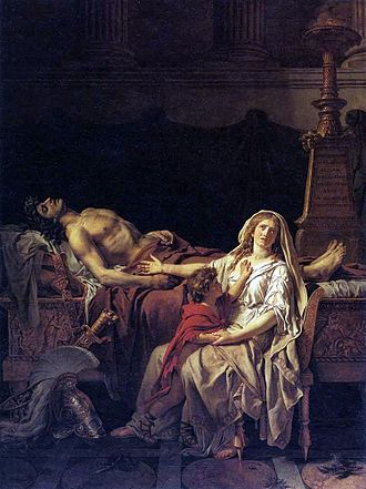 Andromache Mourning Hector - Image: Jacques Louis David Andromache Mourning Hector