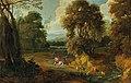 Jacques d'Arthois - A wooded landscape with horsemen.jpg