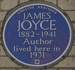 James Joyce 28 Campden Grove blue plaque.jpg