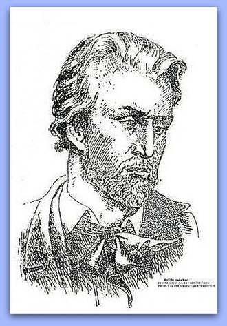 "Poet - Postmortal fictional portrait of Slovak poet Janko Kráľ (1822-1876) - an idealized romanticized picture of ""how a real poet should look like"" in Western culture."