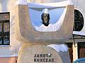 Janusz Korczak's monument at 6 Jaktorowska Street in Warsaw - 03.jpg