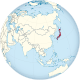 Japan on the globe (Asia centered).svg