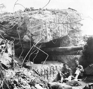 Japanese 120 mm gun after the battle