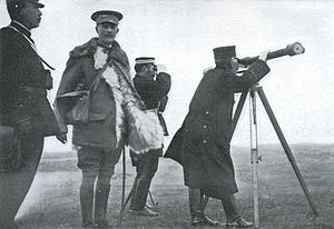 Ian Hamilton (British Army officer) - Gen. Sir Ian Hamilton (facing front) with Japanese General Kuroki Tamemoto after the Japanese victory in Battle of Shaho (1904).