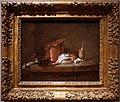 Jean-siméon chardin, utensili da cucina con porro, pesce e uova, 1734 ca.jpg