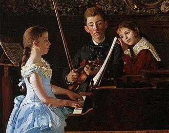 Jean Carolus - Image: Jean Carolus, The Recital, oil on canvas, 82 x 105.4 cm