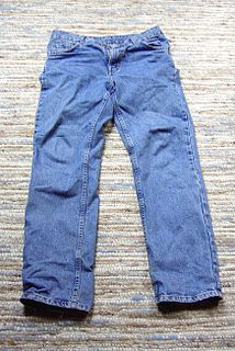 Jeans Trousers often made from denim or dungaree cloth