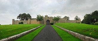Jedburgh - Panorama of Jedburgh Castle