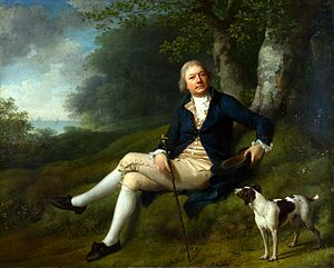 Enrum - Hoseph Greenway painted in Enrum's park by Jens Juel, 1788