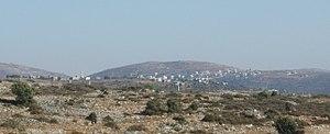 Ammuriya, Nablus - Jilijliya to the right, Ammuriya to the left.