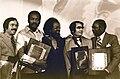 Jim Jones receives the Martin Luther King, Jr. Humanitarian Award - January 1977 (2).jpg