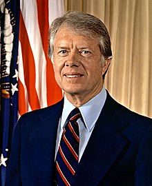 Portrait officiel de Jimmy Carter, en 1977.