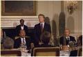 Jimmy Carter hosts a working dinner with Anwar Sadat, President of Egypt. - NARA - 174293.tif